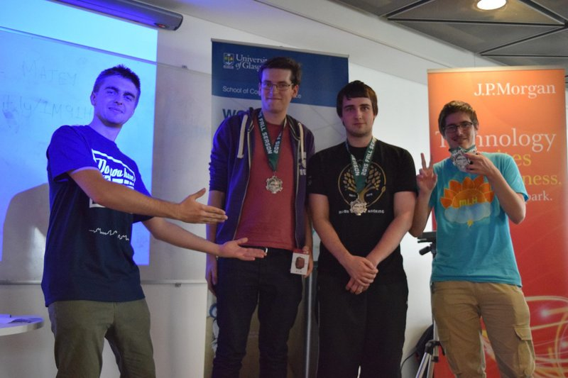 Glasgow University Tech Society Hackathon Win - Isaac Jordan